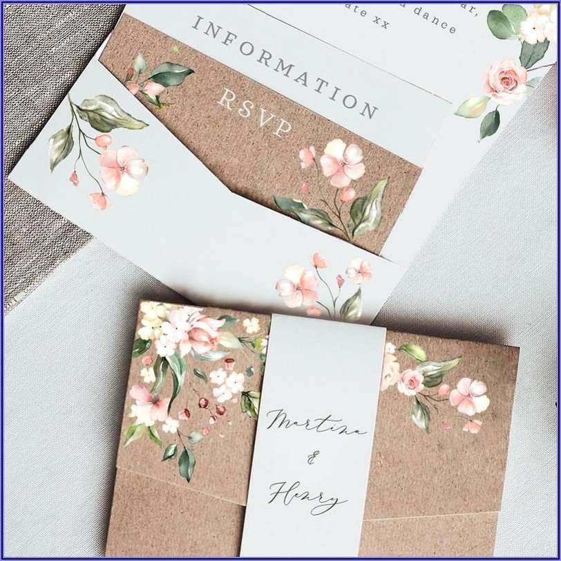 Pocketfold Wedding Invitations Ireland