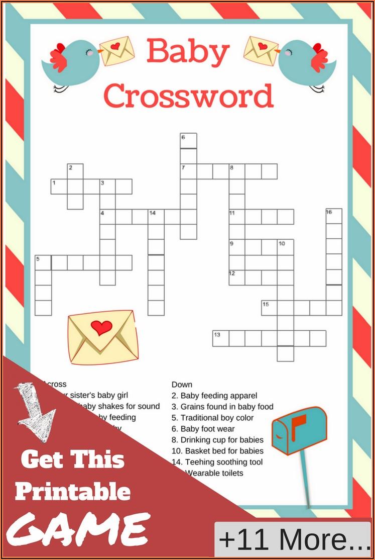 Pregnancy Announcement Crossword Puzzle