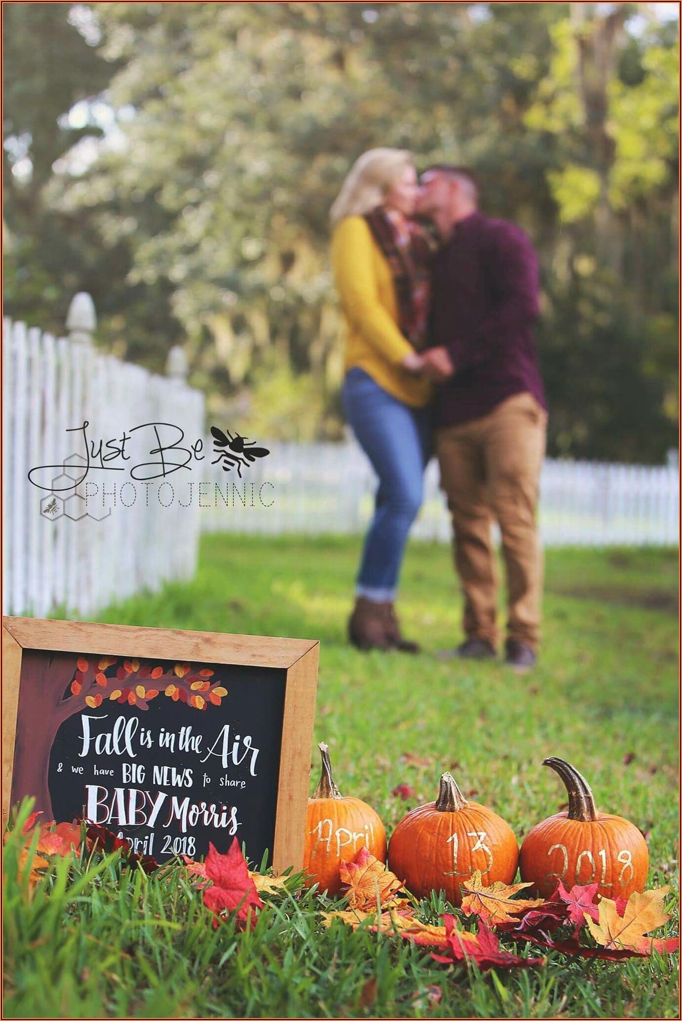 Pregnancy Announcement Ideas Around Thanksgiving
