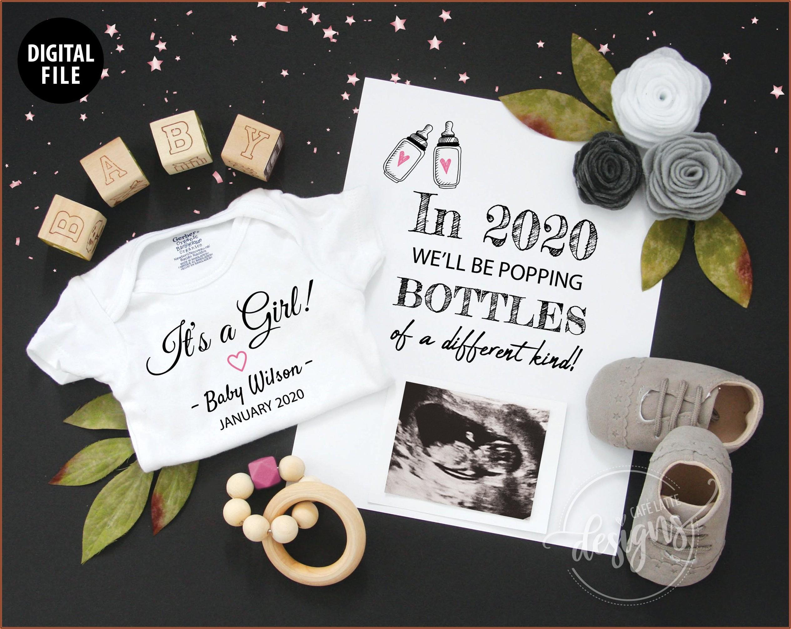Pregnancy Announcement Templates Free Download
