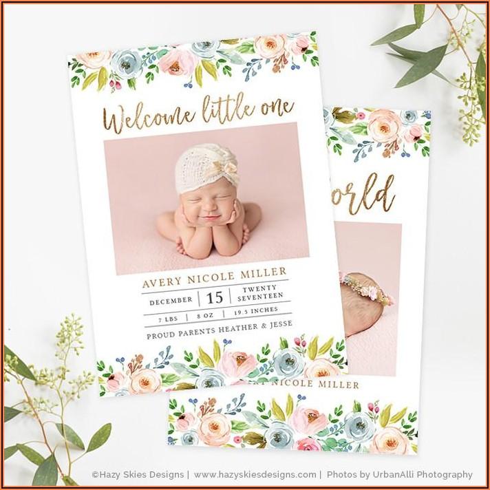 Printable Birth Announcement Template