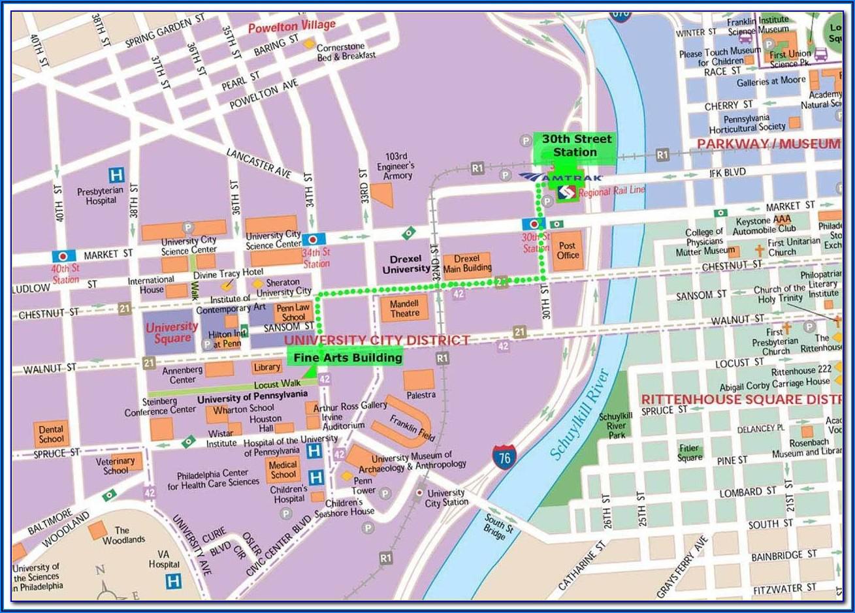 Printable Map Of Downtown Philadelphia