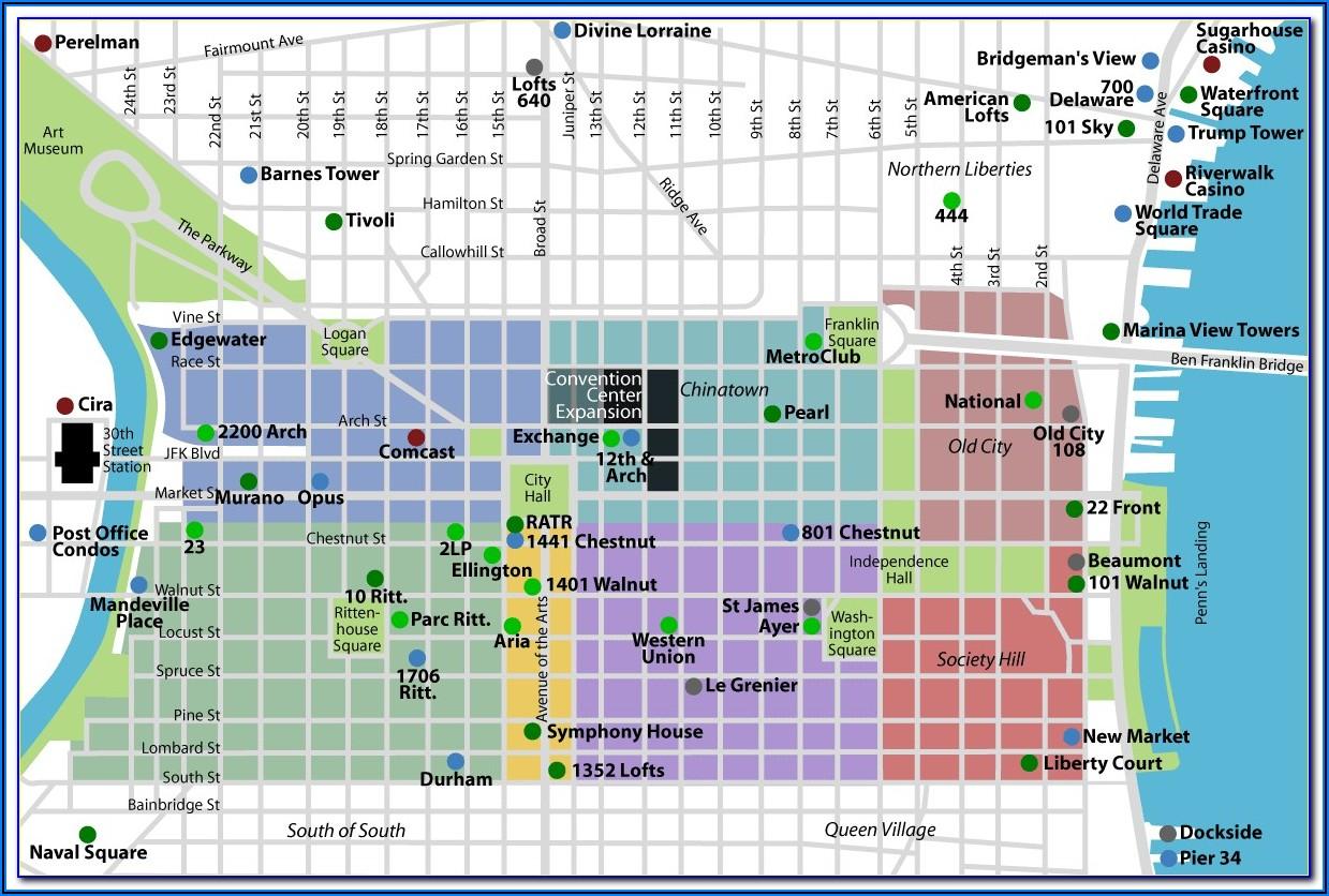 Printable Map Of Philadelphia Historic Sites