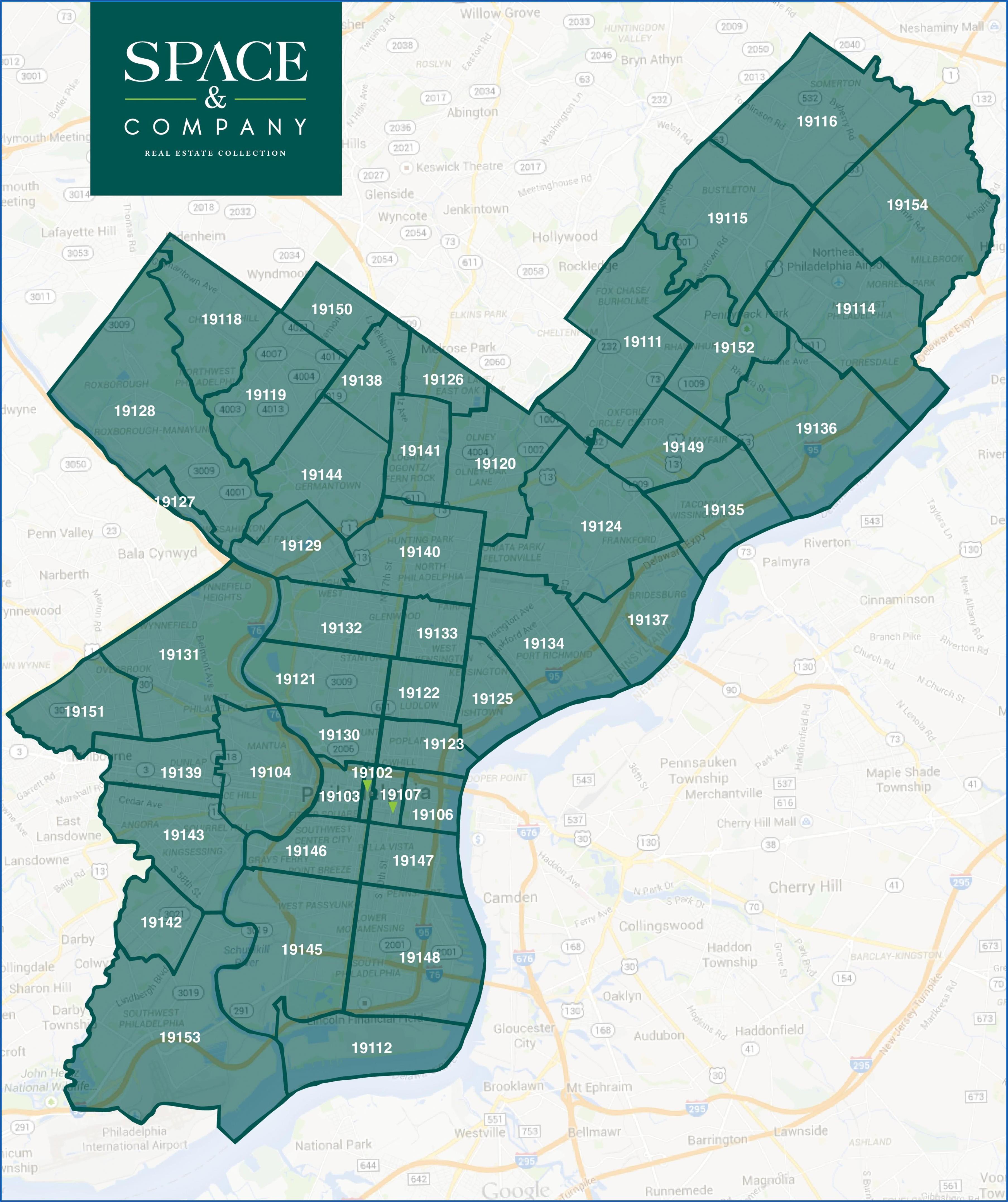 Printable Map Of Philadelphia With Zip Codes