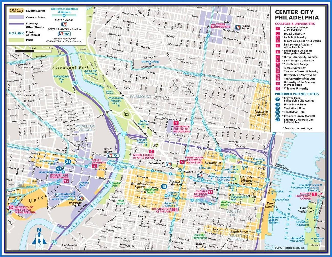 Printable Map Of Philadelphia