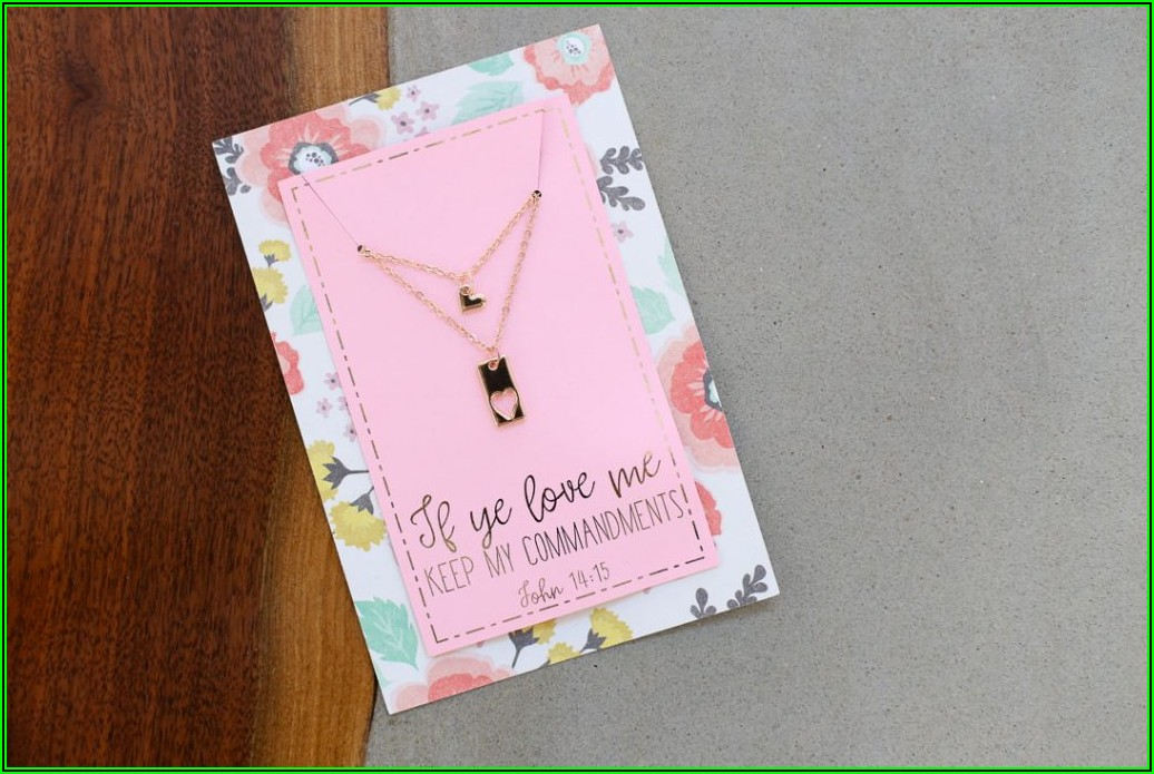 Printable Necklace Display Card Template