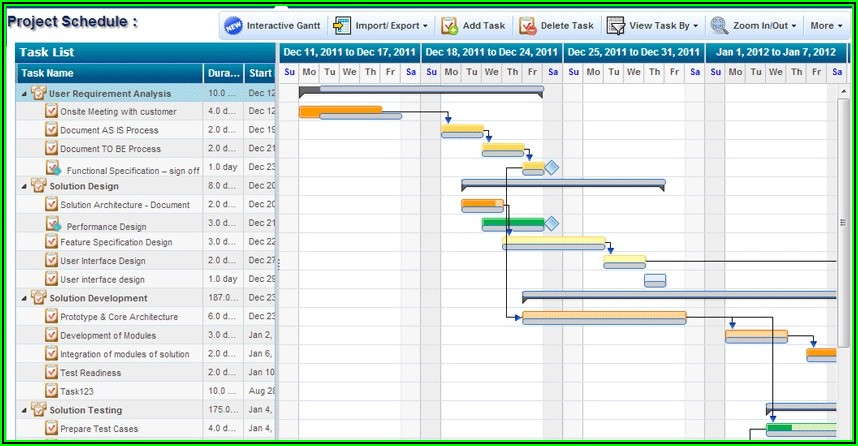 Project Management Schedule Template Excel