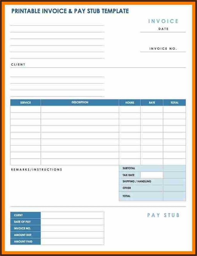 Quickbooks Pay Stub Template Pdf