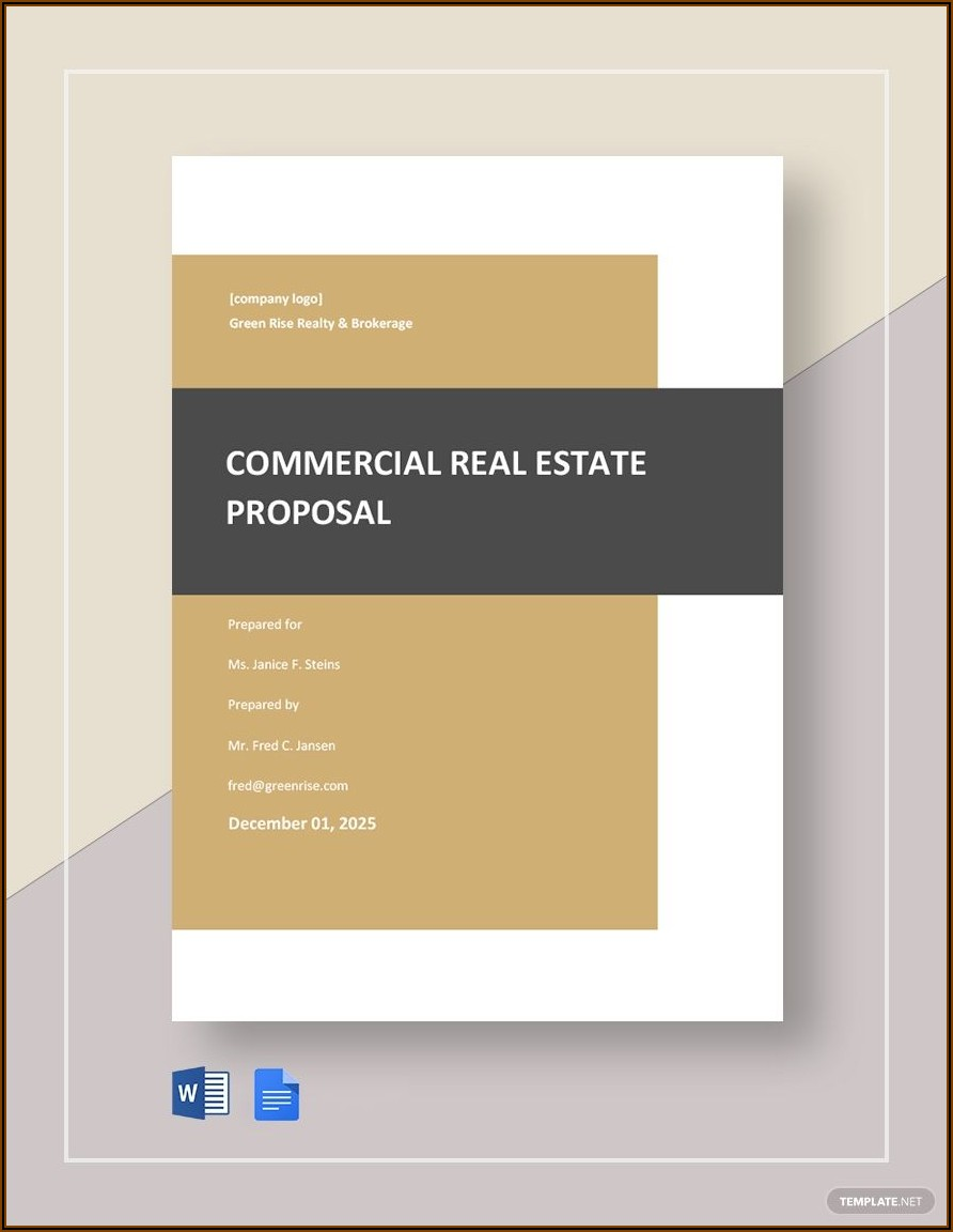 Real Estate Proposal Template Pdf