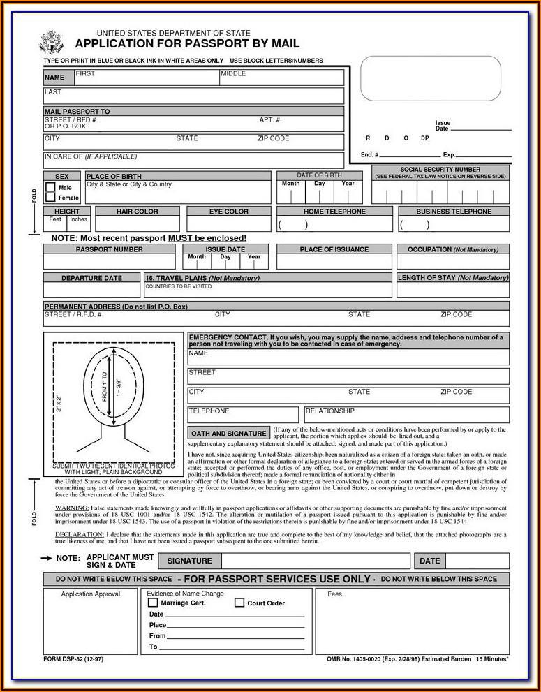 Renewal Of Passport Application Form Indian