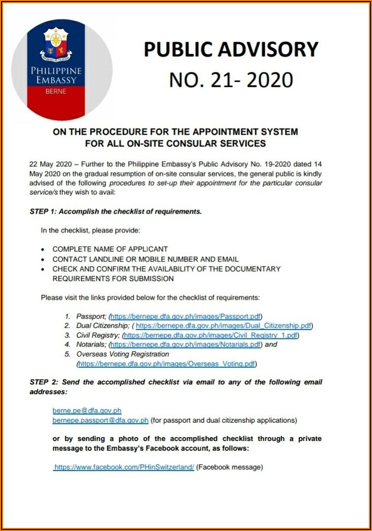 Renewal Of Philippine Passport Online Application Form