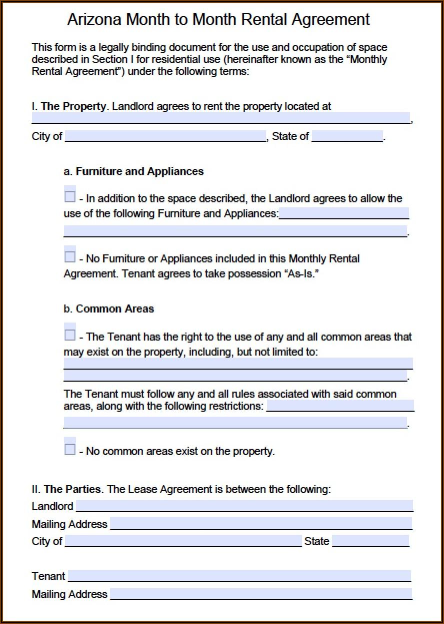 Rental Agreement Word Doc Template