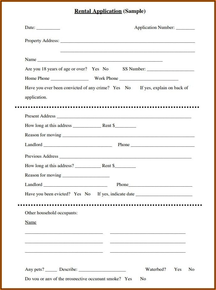 Rental Screening Application Form