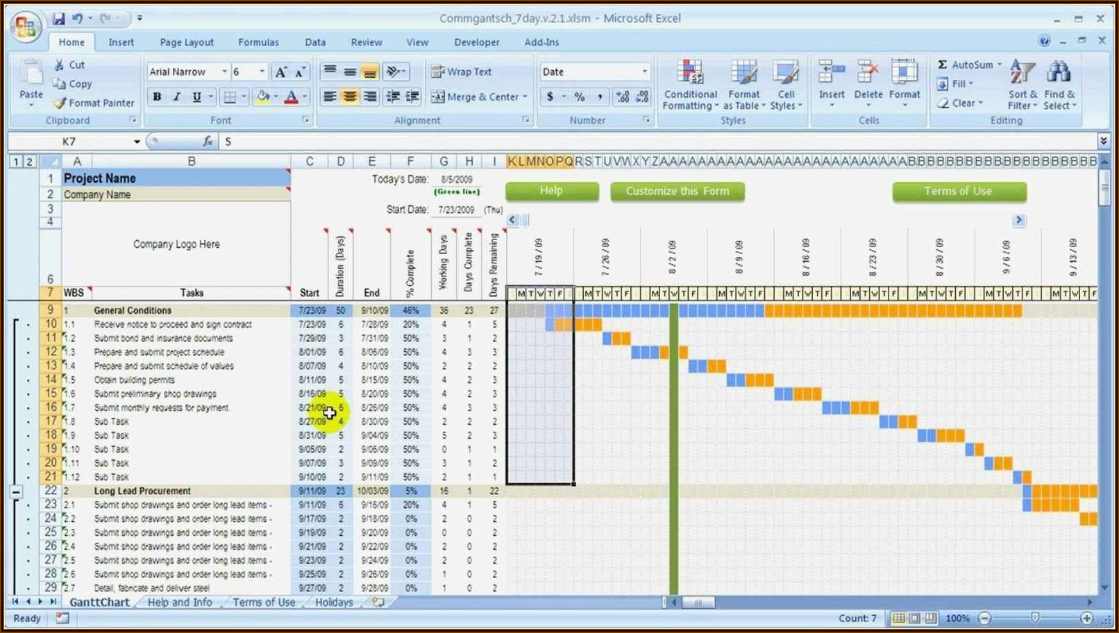 Resource Capacity Planning Excel Template