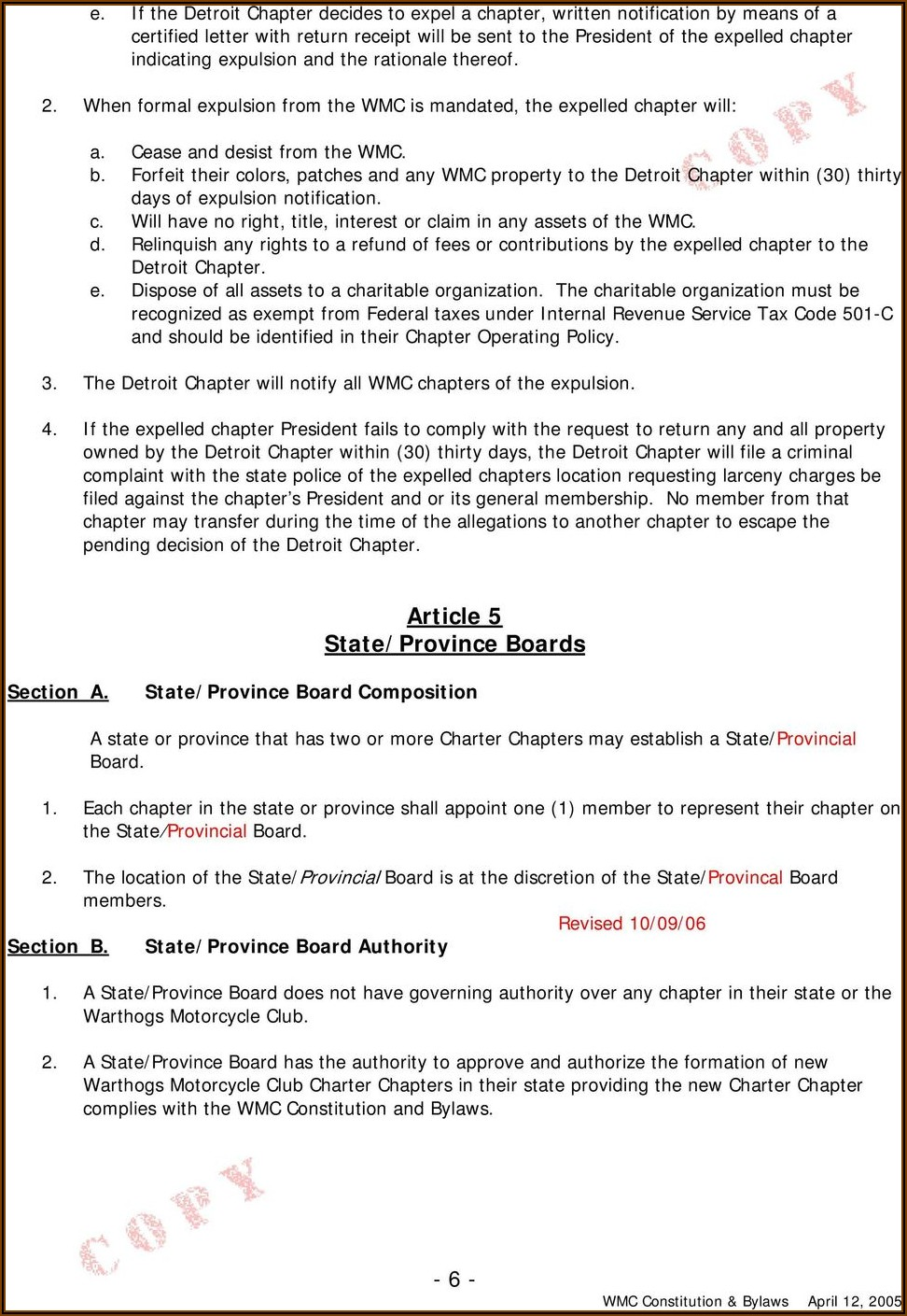 Riding Club Bylaws Template