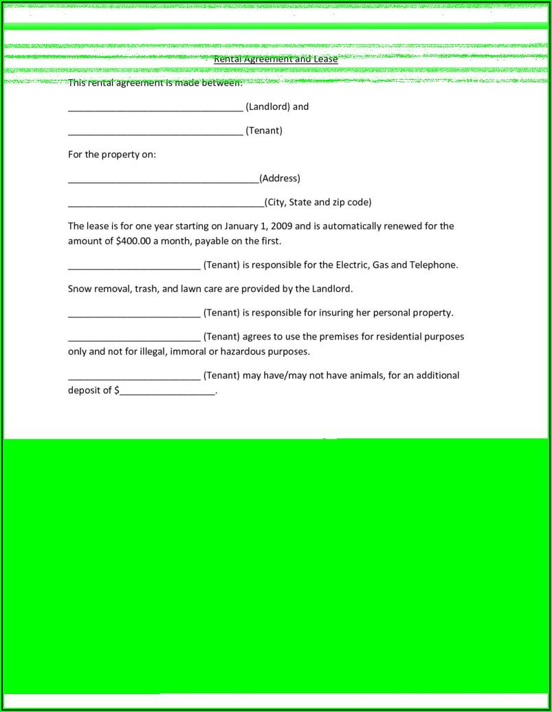Room Rental Agreements Templates