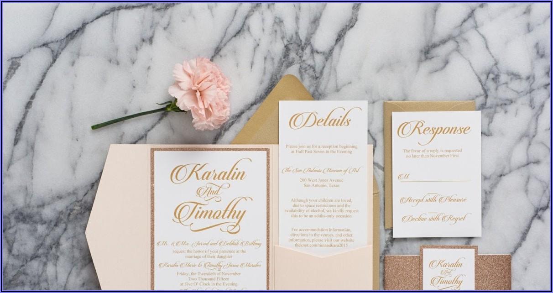 Rose Gold And Blush Wedding Invitations