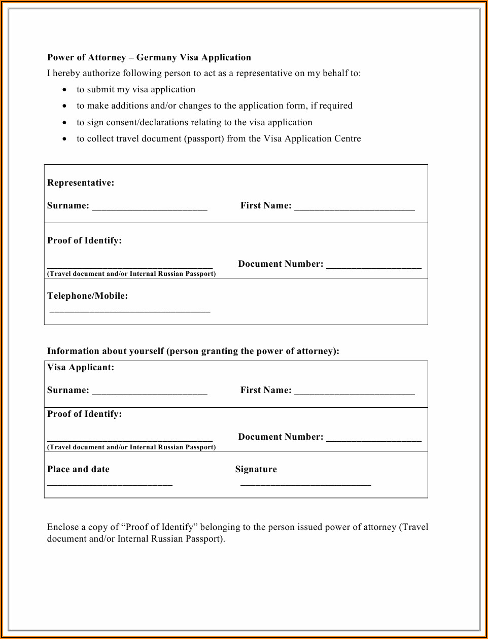 Russian Visa Application Form Download Pdf