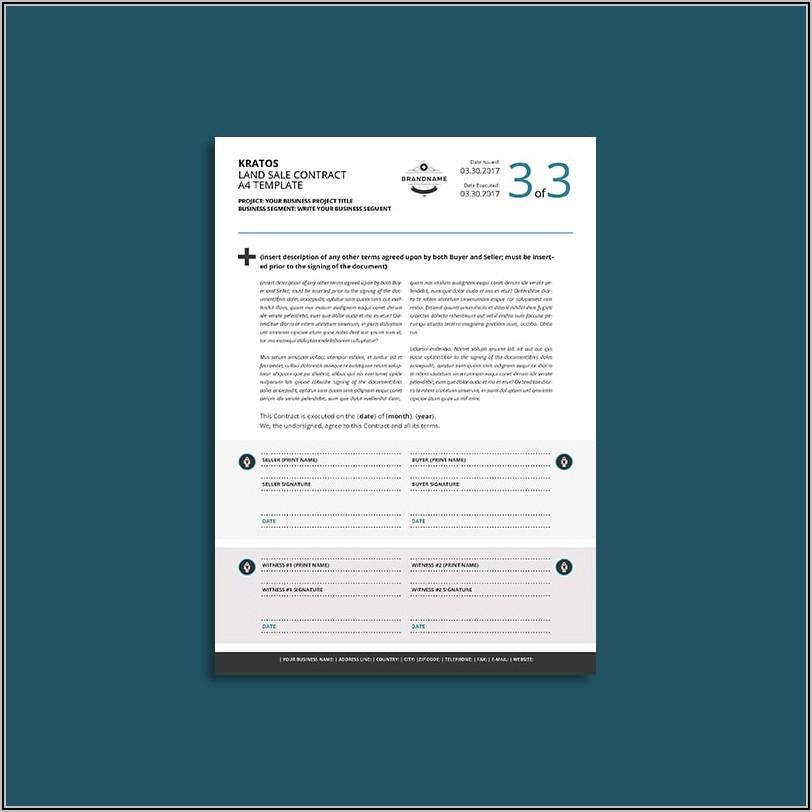 Sale Contract Template Word