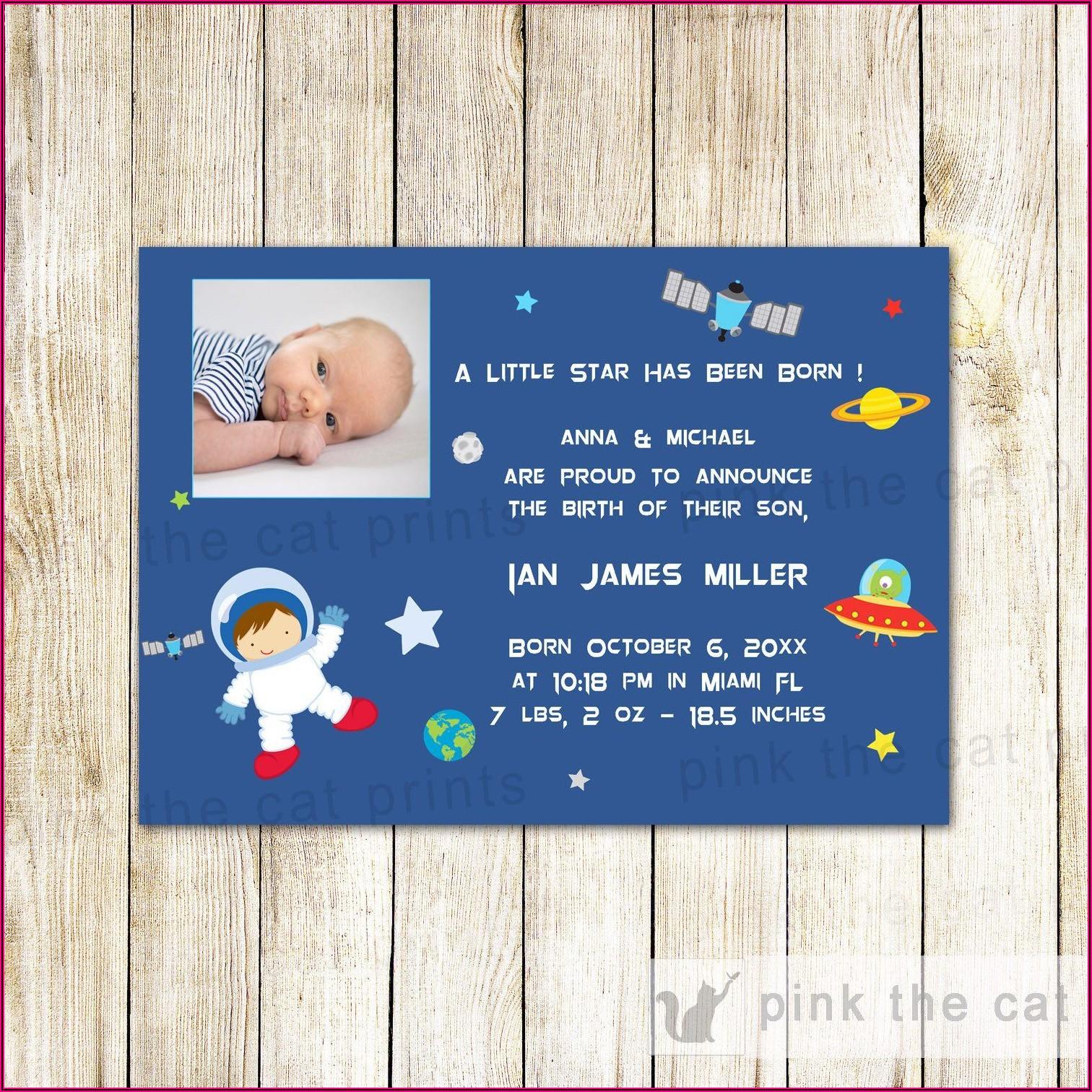 Second Baby Boy Birth Announcement Wording