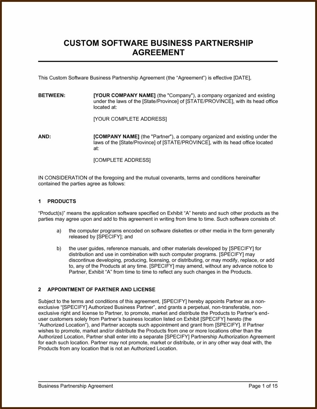 Silent Partner Agreement Template Uk