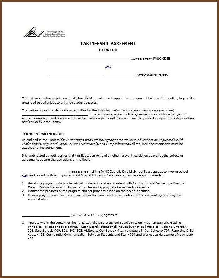 Silent Partnership Agreement Template