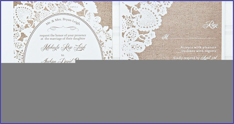 Silver Laser Cut Wedding Invitations Uk