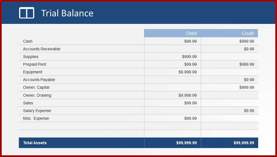 Simple Financial Statement Format