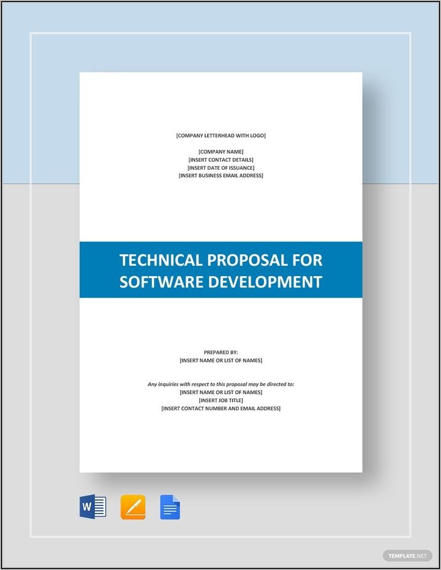 Software Development Proposal Template Word