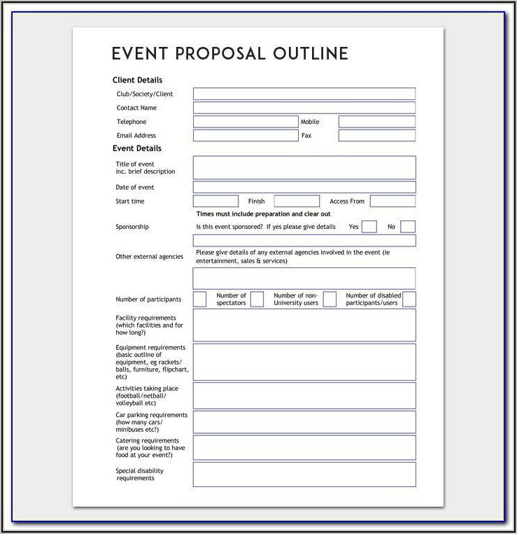 Software Project Proposal Template Word Free