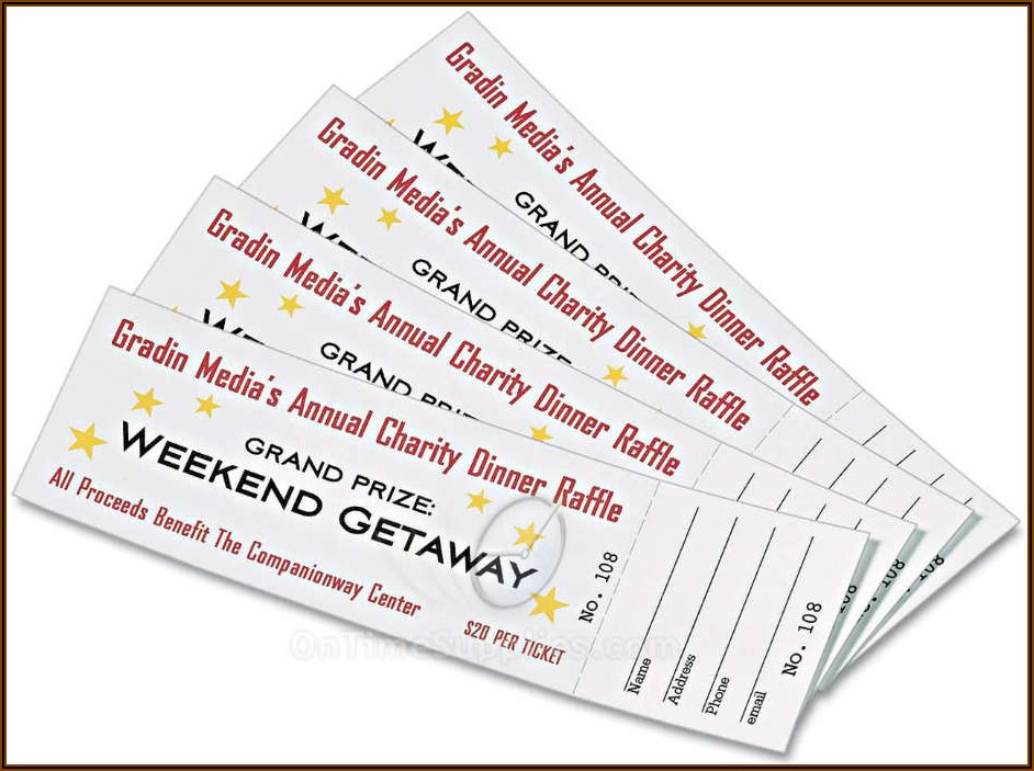Staples Raffle Ticket Template