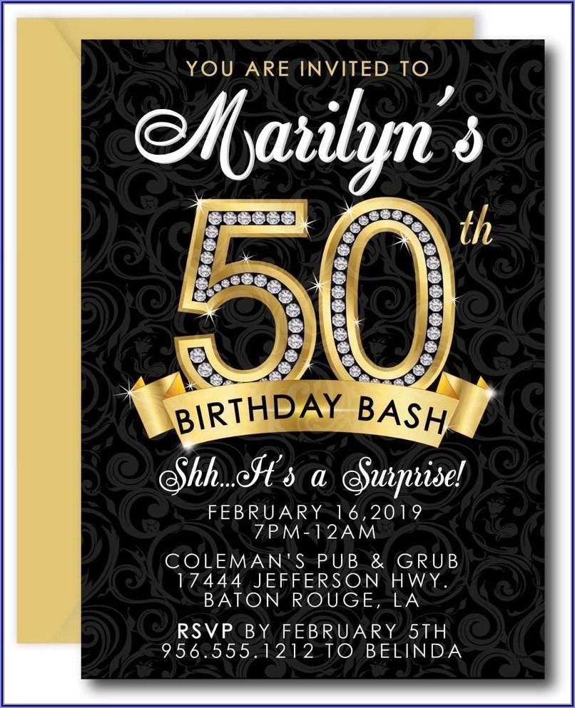 Surprise 50th Birthday Party Invites