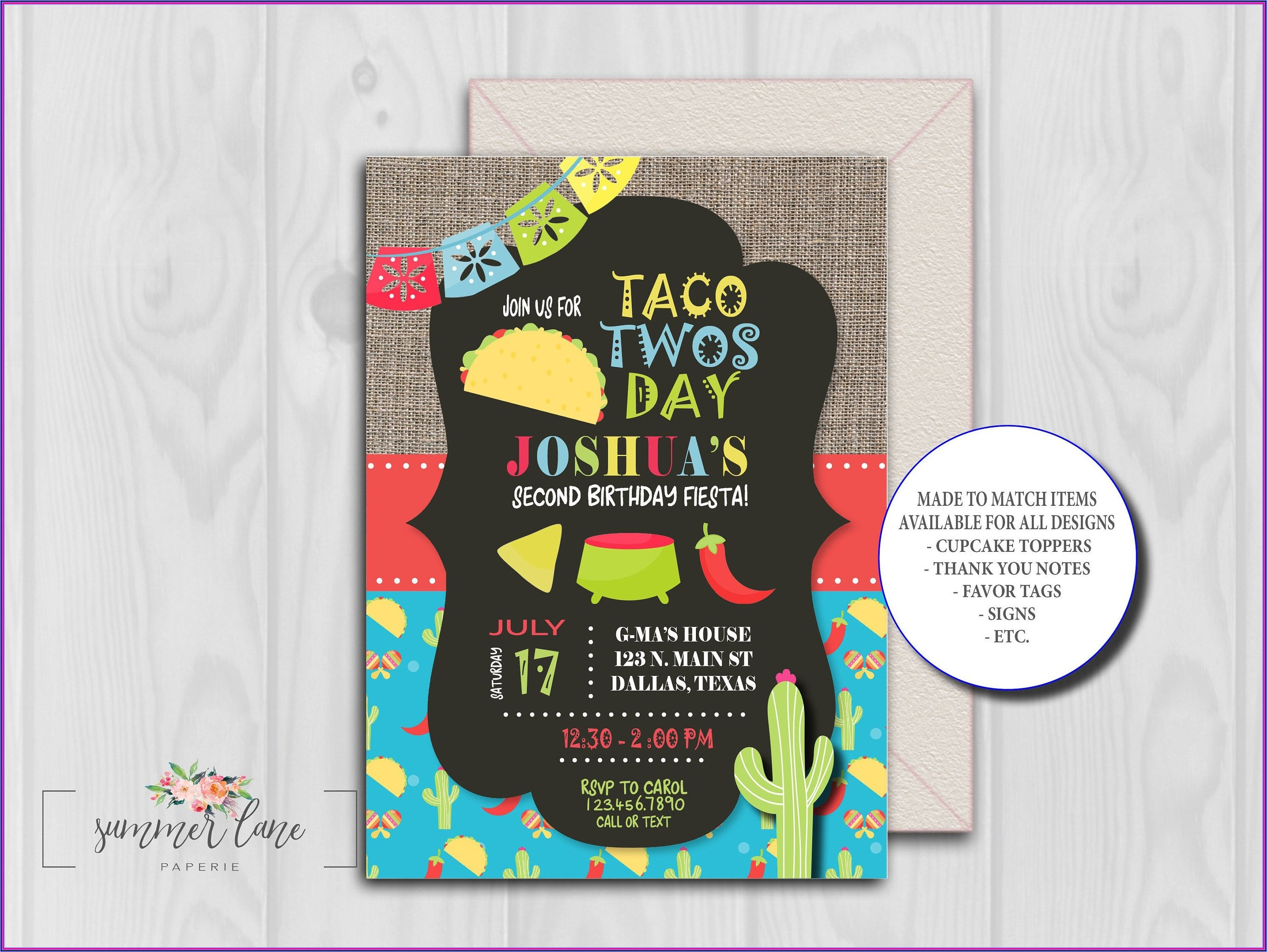 Taco Twosday Invitation Template Free