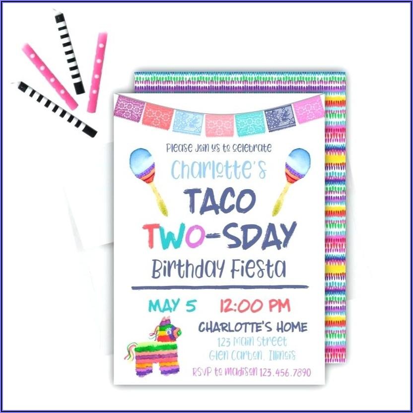 Taco Twosday Invitation Template