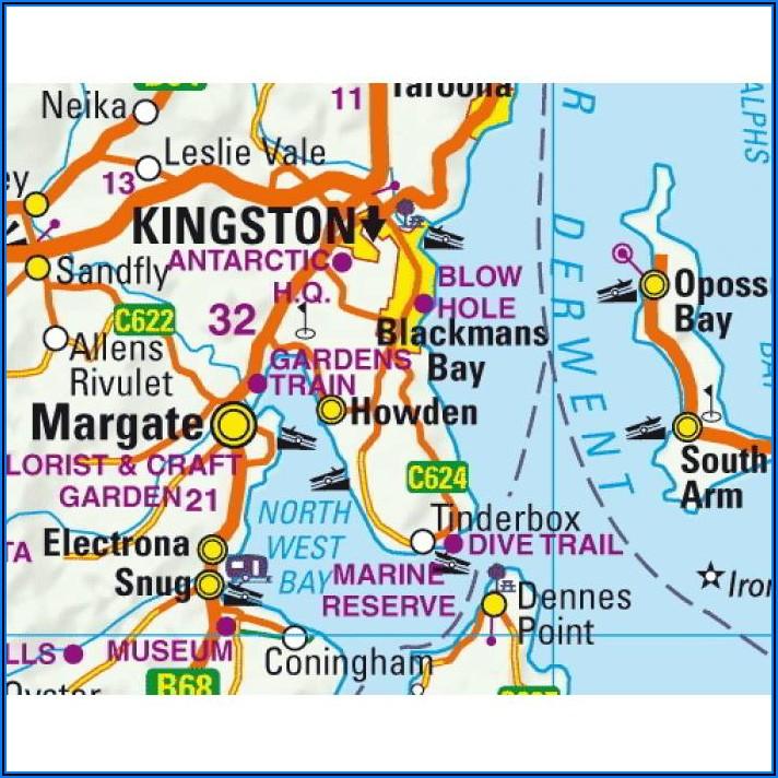 Tasmania Visitors Map