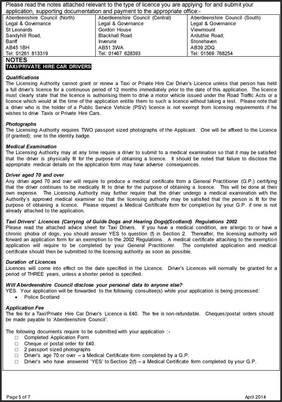 Taxi Driver Grant Application Form