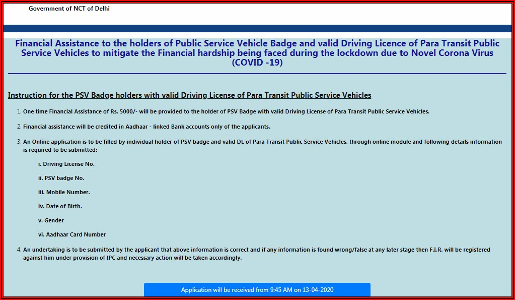 Taxi Driver License Application Form