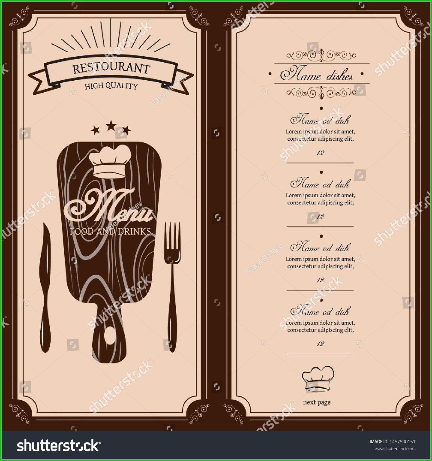 Template Menu Cafe