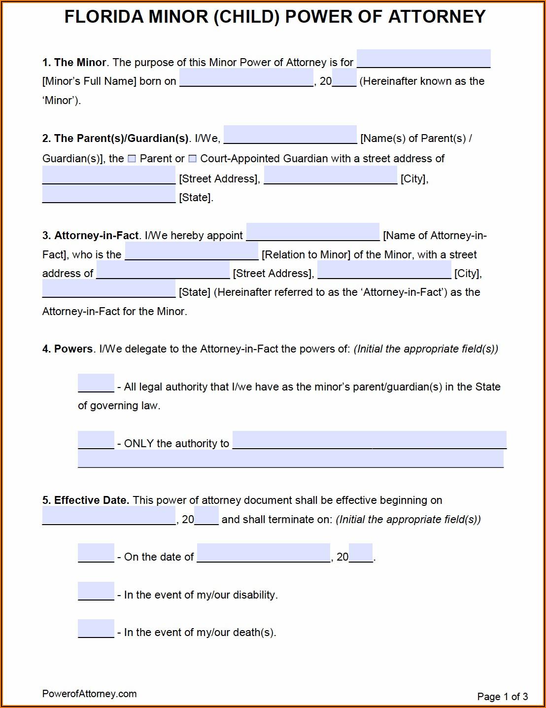 Temporary Custody Form Arizona