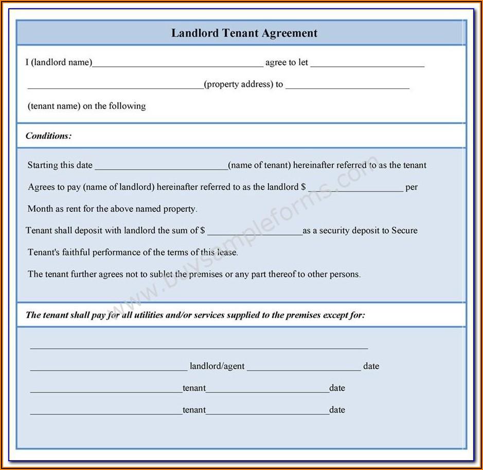 Tenant Rental Agreement Form Bc