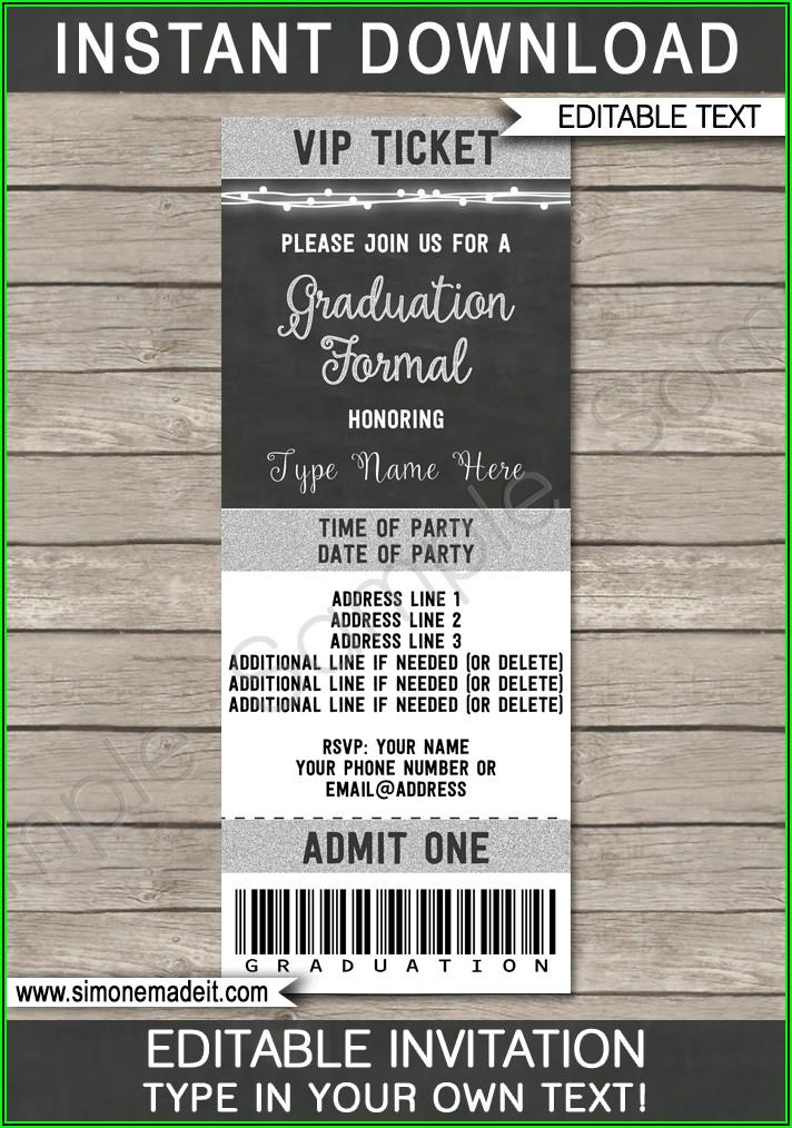 Ticket Invitations Template