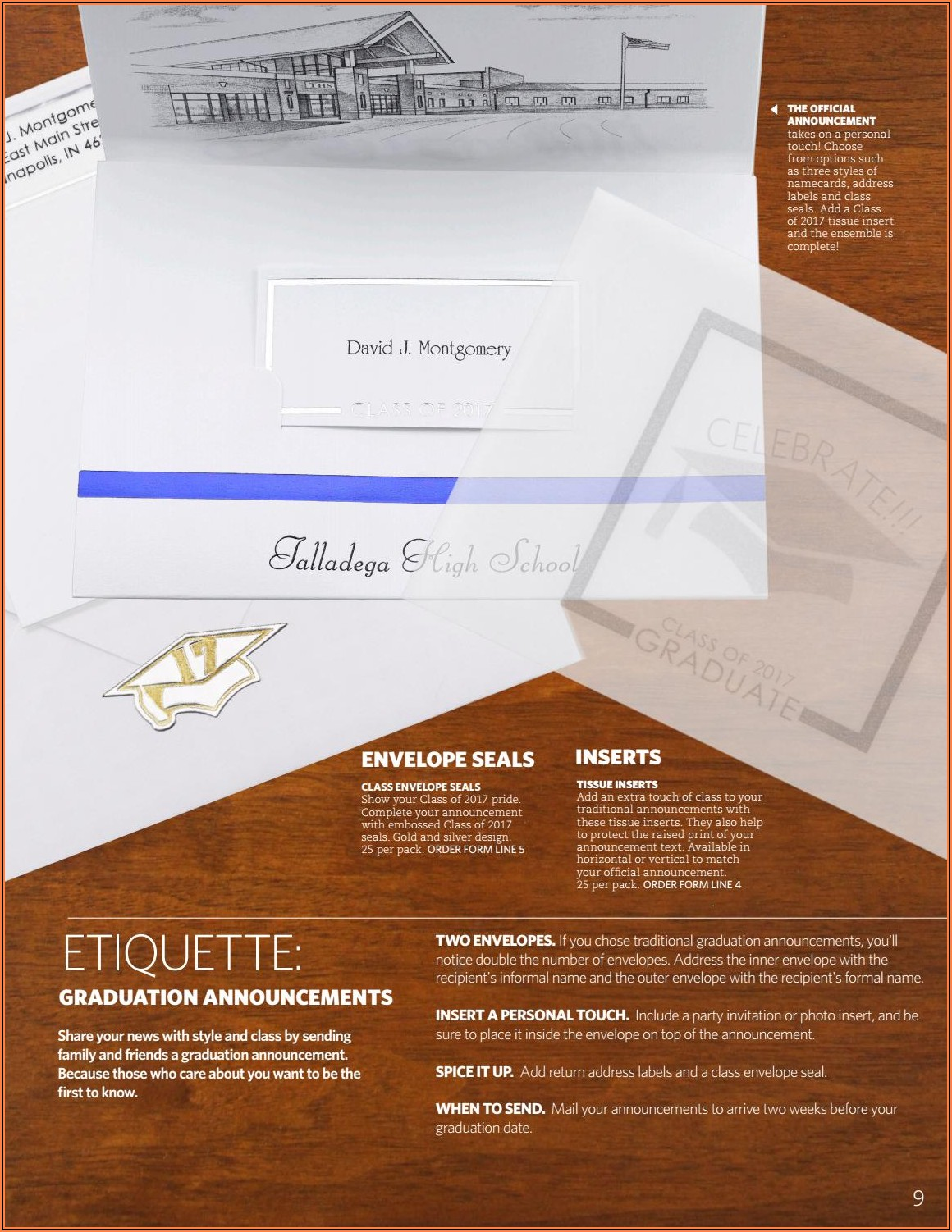 Tissue Inserts For Graduation Announcements