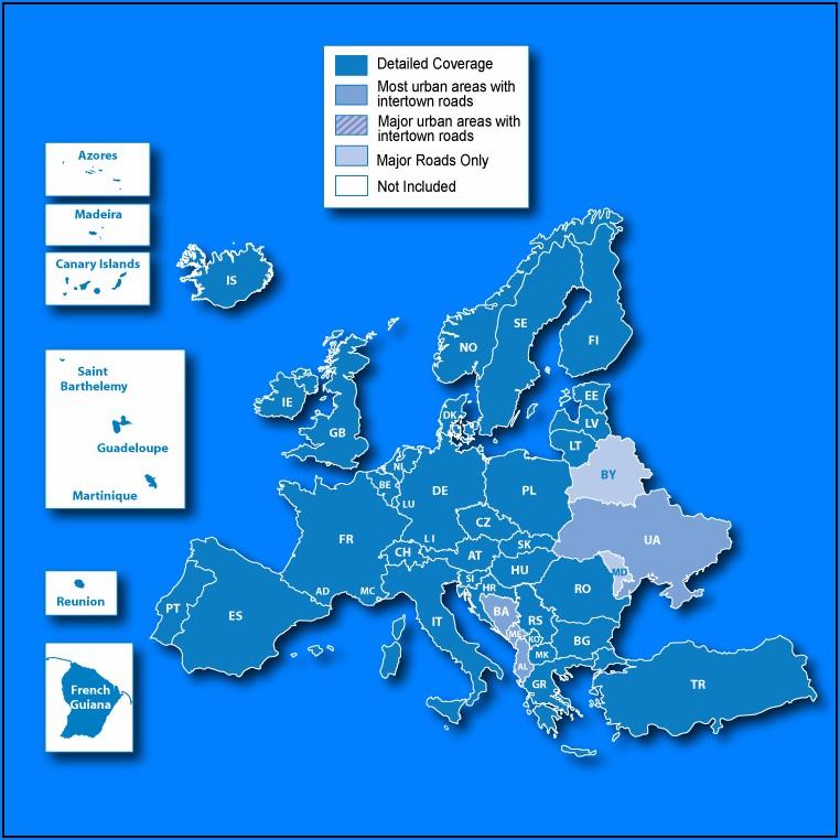 Tomtom Europe Maps Malta