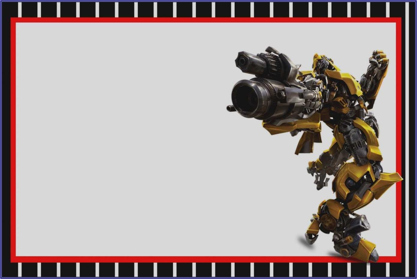 Transformers Birthday Invitation Template