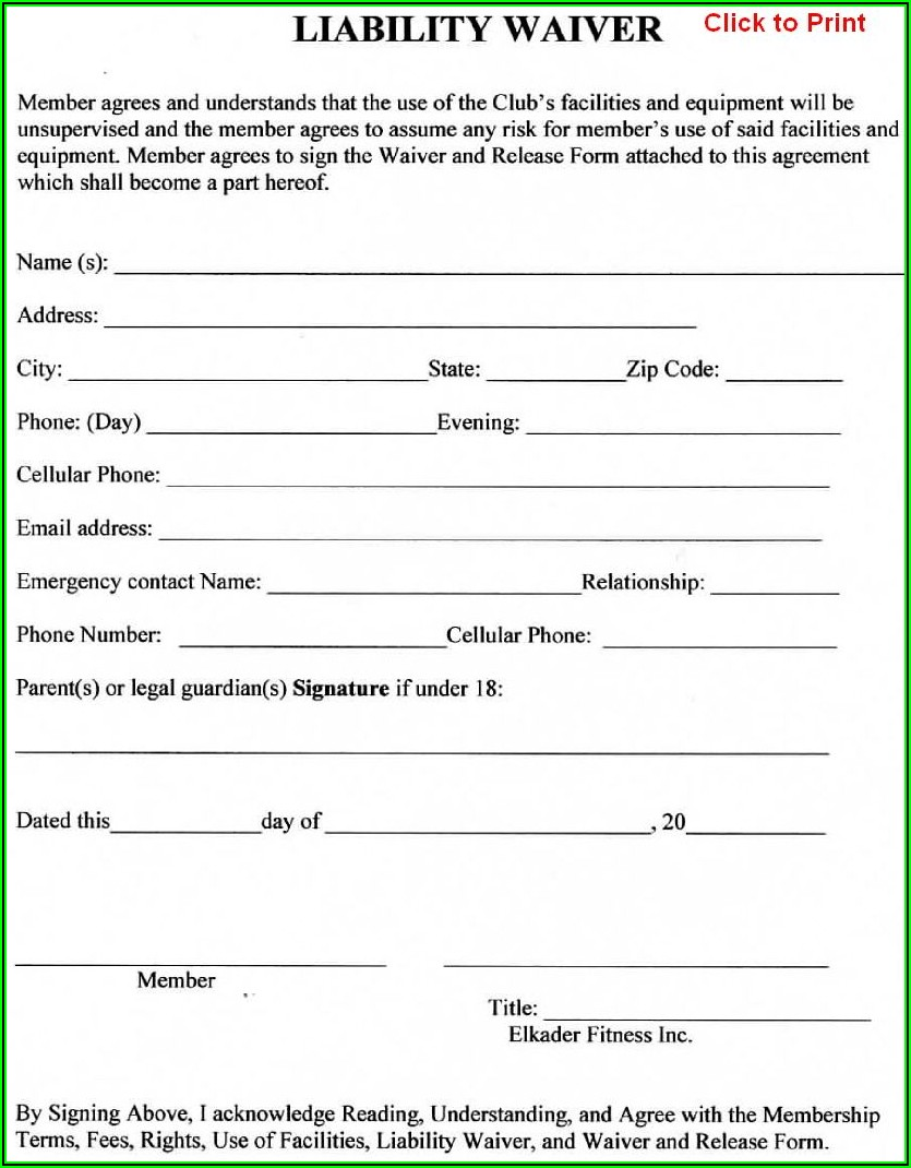 Travel Insurance Waiver Template