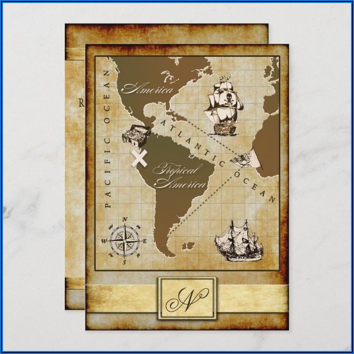 Treasure Map Invitation Template