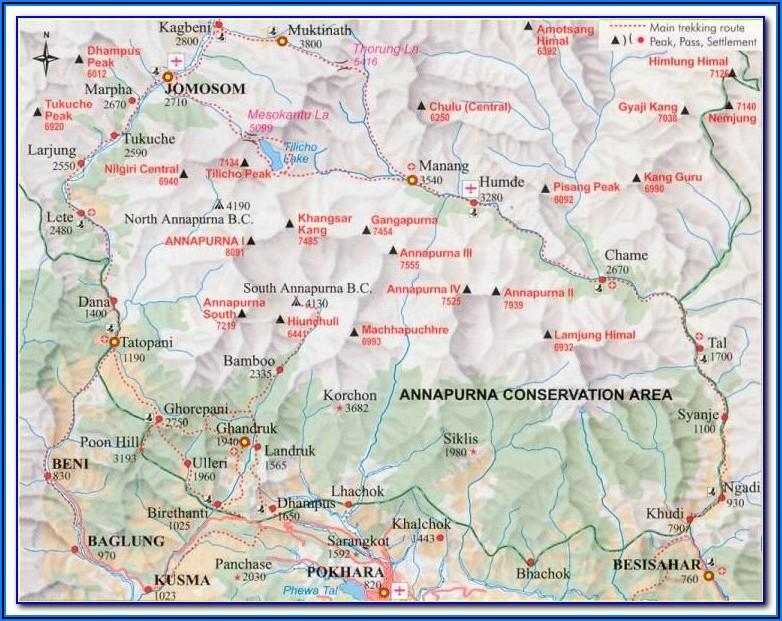 Trekking Annapurna Mapa