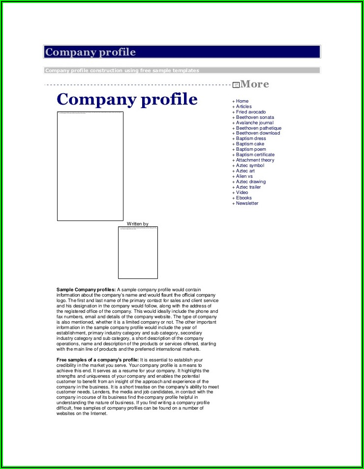 Trucking Company Profile Example