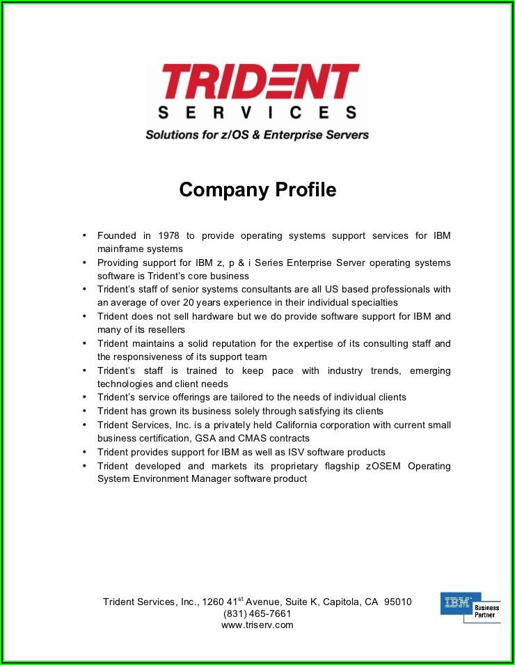 Trucking Company Profile Sample