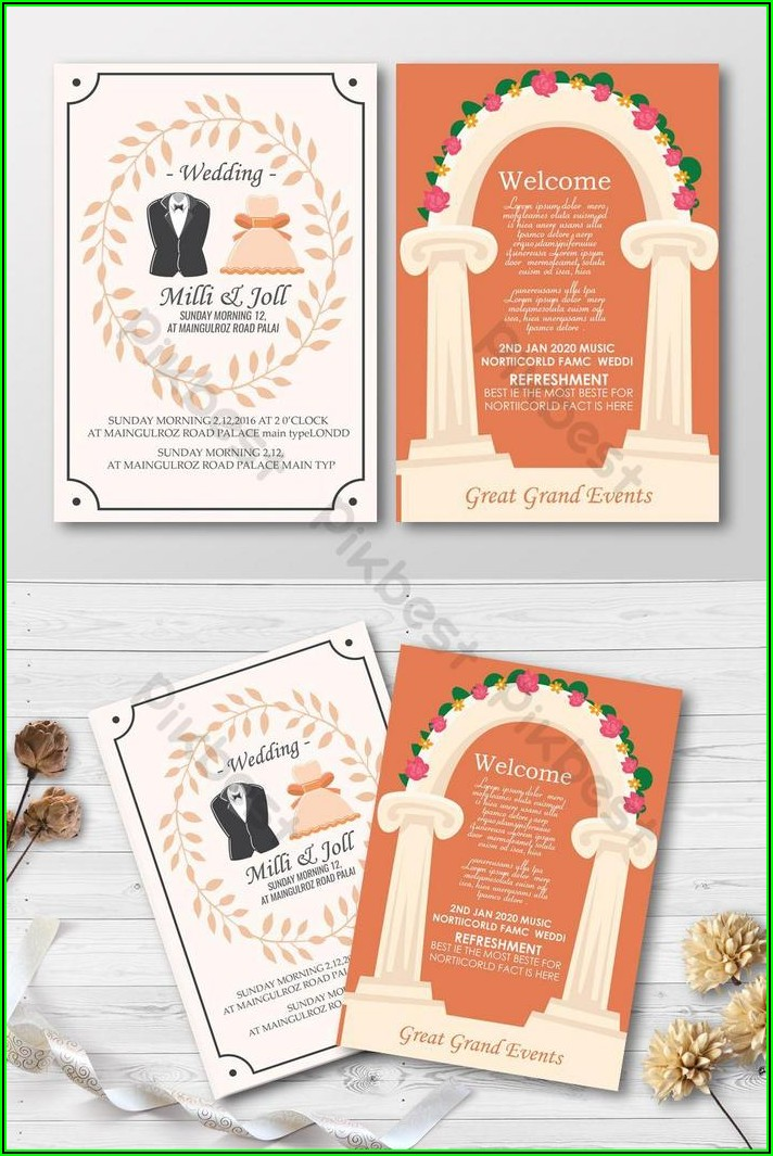 Two Sided Bookmark Template Photoshop